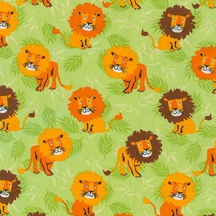 Wild Adventure Lion's Fabric from Robert Kaufman Fabrics