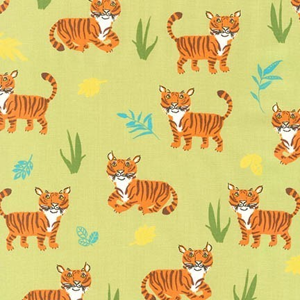 Wild Adventure Tiger Fabric from Robert Kaufman Fabrics