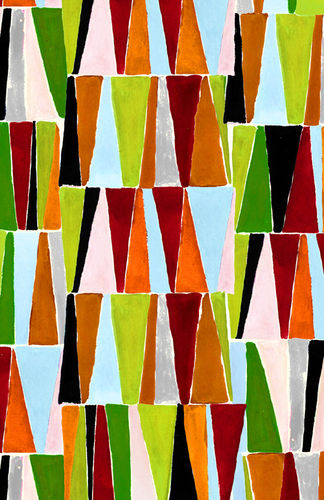 Bright Triangles Fabric - Inprint - Jane Makower Fashion Fabric