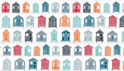 Marina Beach Huts from Makower Fabrics