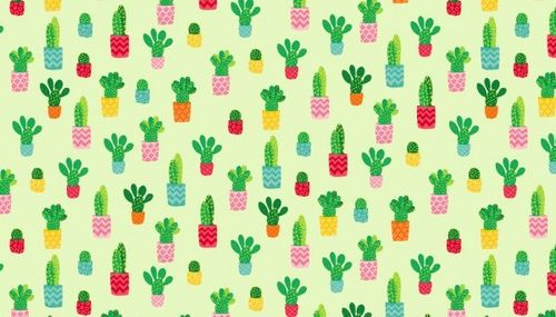 Fruity Friends, Cactus on green from Makower UK