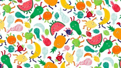 Fruity Friends, Scatter white from Makower UK