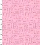 Garden Party Pink Sentiments Fabric
