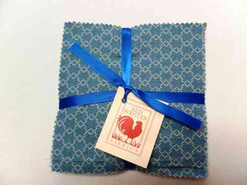"Red Rooster 5"" Charm Pack, Blue"