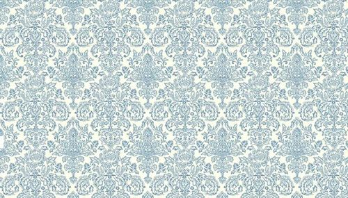 Vintage Journal Damask Blue