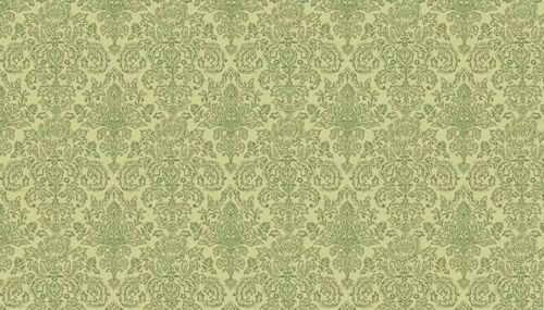 Vintage Journal Damask Sage Green