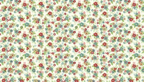 Katie J Multi Floral Ivory for Makower UK