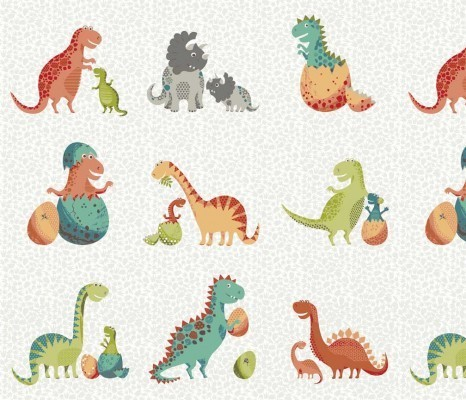 Rex Dinosaurs Fabric Makower UK