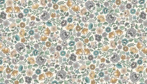 Chintz on cream from Makower UK
