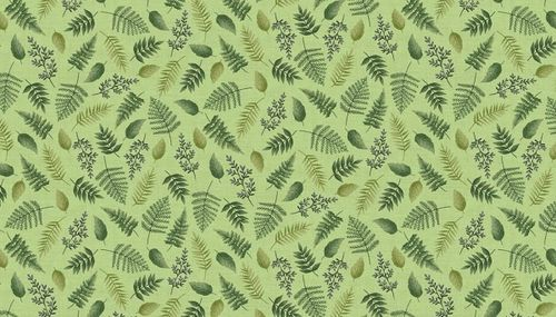 Fern Garden Leaf Scatter in Green