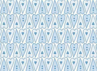 Red Rooster Fabrics Blue Hearts.