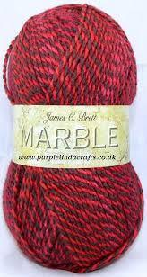 James C Brett Marble DK in Red.