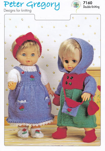 Peter Gregory dolls knitted outfits